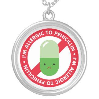 I'm allergic to penicillin! Penicillin allergy Silver Plated Necklace