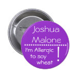 I'm Allergic to soy wheat allergy button