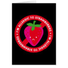 I'm allergic to strawberries! Strawberry allergy Card