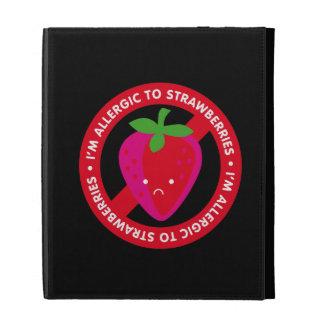 I'm allergic to strawberries! Strawberry allergy iPad Folio Covers