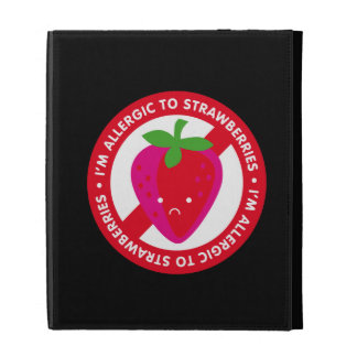 I'm allergic to strawberries! Strawberry allergy iPad Folio Cover