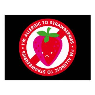I'm allergic to strawberries! Strawberry allergy Postcard