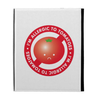 I'm allergic to tomatoes! Tomato allergy iPad Folio Cover