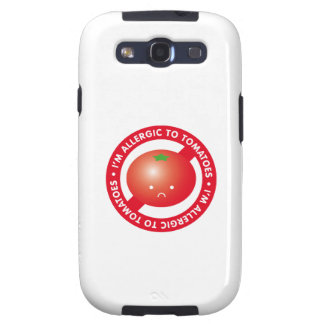 I'm allergic to tomatoes! Tomato allergy Samsung Galaxy SIII Covers