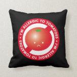 I'm allergic to tomatoes! Tomato allergy Throw Pillows
