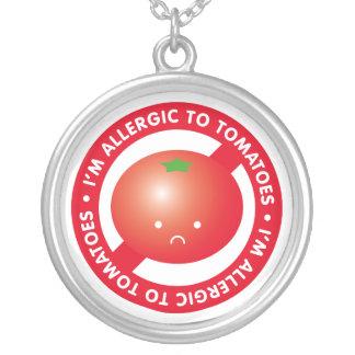I'm allergic to tomatoes! Tomato allergy Round Pendant Necklace