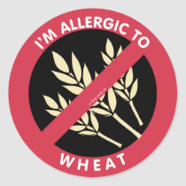 I'm Allergic To Wheat Kids Allergy Symbol Classic Round Sticker