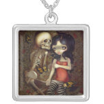 I'm Almost With You NECKLACE gothic skeleton