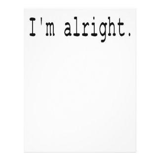 I'm alright letterhead