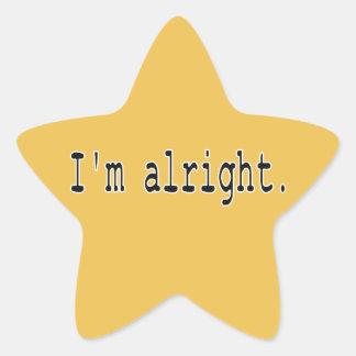 I'm alright star sticker
