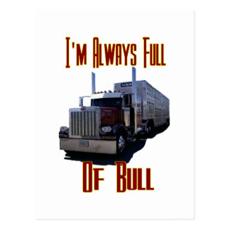 I'm Always Full Of Bull Postcard