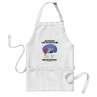 I'm Always Happy To Give You A Piece Of My Mind Adult Apron