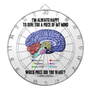 I'm Always Happy To Give You A Piece Of My Mind Dart Board