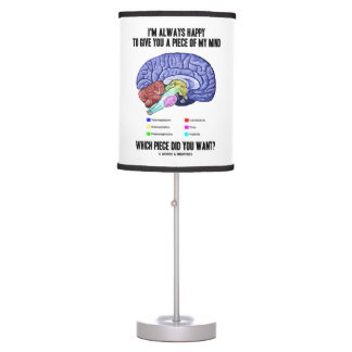 I'm Always Happy To Give You A Piece Of My Mind Desk Lamp