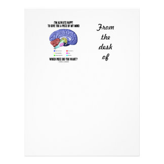 I'm Always Happy To Give You A Piece Of My Mind Letterhead