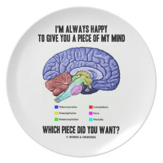 I'm Always Happy To Give You A Piece Of My Mind Plate