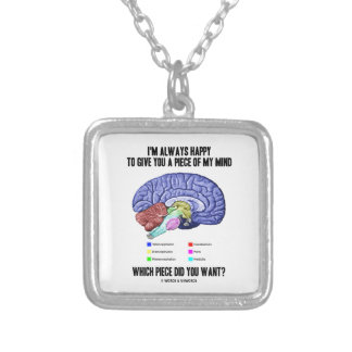 I'm Always Happy To Give You A Piece Of My Mind Silver Plated Necklace