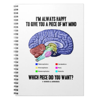 I'm Always Happy To Give You A Piece Of My Mind Spiral Notebook