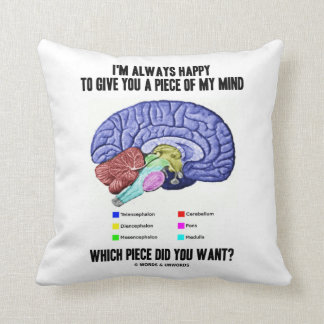 I'm Always Happy To Give You A Piece Of My Mind Throw Pillow
