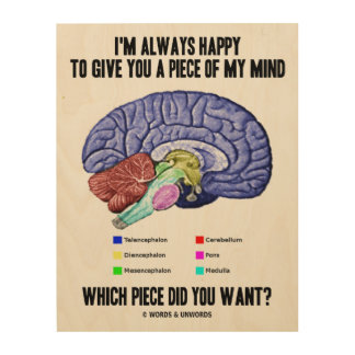 I'm Always Happy To Give You A Piece Of My Mind Wood Wall Art