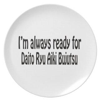 I'm always ready for Daito Ryu Aiki Bujutsu. Dinner Plate