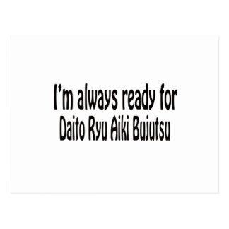I'm always ready for Daito Ryu Aiki Bujutsu. Postcard