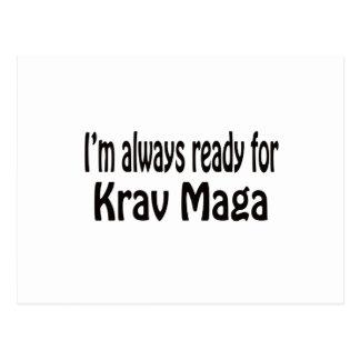 I'm always ready for Krav Maga. Postcard