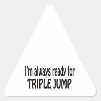 I'm always ready for Triple Jump. Triangle Sticker