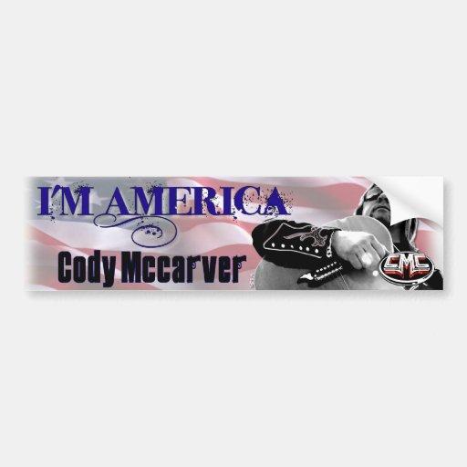 I'm America Bumper Sticker