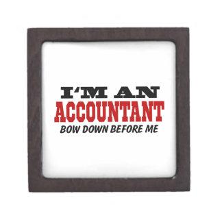 I'm An Accountant Bow Down Before Me Gift Box