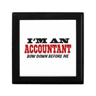 I'm An Accountant Bow Down Before Me Keepsake Box