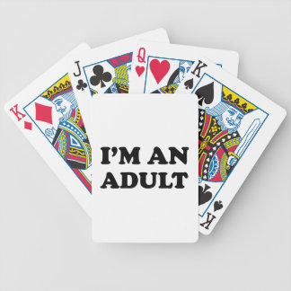 I'm An Adult Bicycle Playing Cards