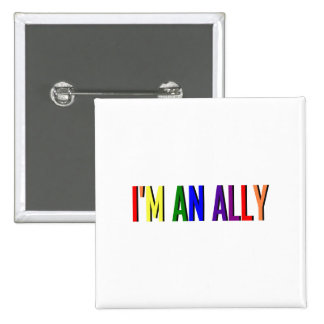 I'm an Ally Square Button