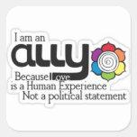 I'm an ally square sticker