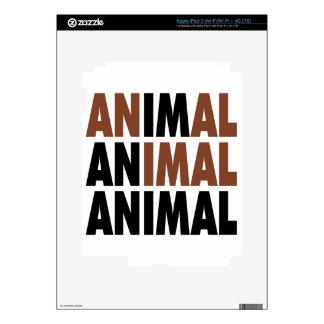 i'm an animal iPad 3 skins