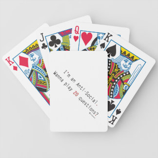 I'm an Anti-Social Bicycle Playing Cards