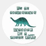 I'm an Apatosaurus Round Stickers