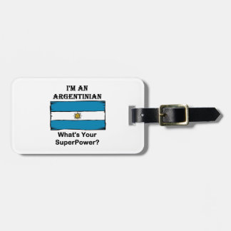 I'M An Argentinian, What's Your Superpower? Luggage Tags