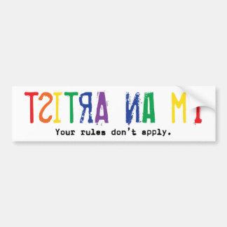 I'm An Artist (bumper sticker) Bumper Sticker