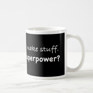 I'm an artist. What's your superpower? funny Coffee Mugs