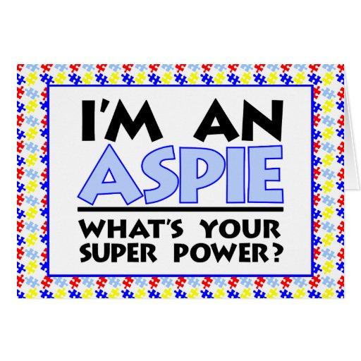 I'm An Aspie Cards