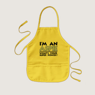 I'm an Aspie. What's Your Super Power? Kids' Apron