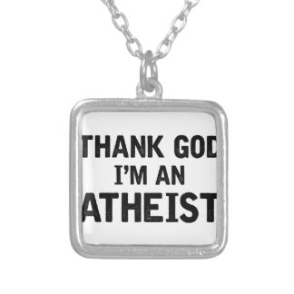 I'm An Athiest Silver Plated Necklace