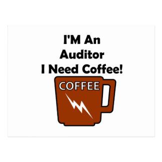I'M An Auditor, I Need Coffee! Postcard