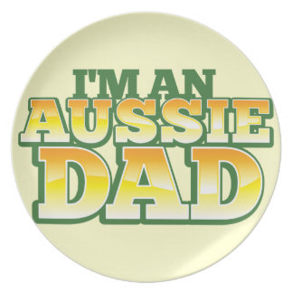 I'm an AUSSIE DAD! Melamine Plate