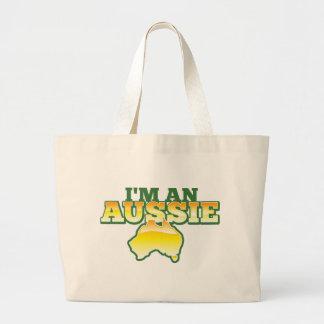 I'm an Aussie! Large Tote Bag