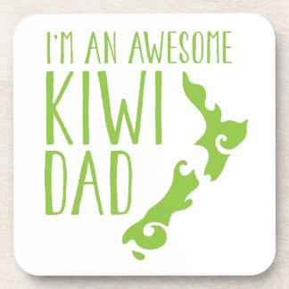 I'm an awesome KIWI dad New Zealand Beverage Coaster