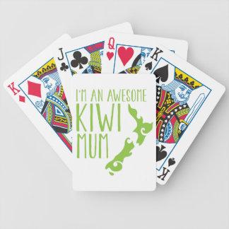 I'm an awesome KIWI MUM New Zealand Bicycle Playing Cards