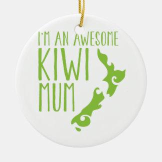 I'm an awesome KIWI MUM New Zealand Ceramic Ornament
