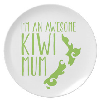 I'm an awesome KIWI MUM New Zealand Dinner Plate